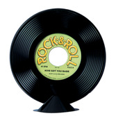 Fifties Decorations Plastic Record Centerpiece Image