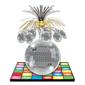 60s & 70s Decorations Disco Ball Centerpiece Image