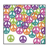 60s & 70s Decorations Peace Sign Confetti Image