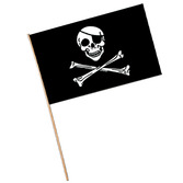 "Pirates Decorations 11""x17"" Pirate Plastic Flags Image"