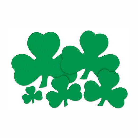 "St. Patrick's Day Decorations 5"" Printed Shamrock Cutout Image"