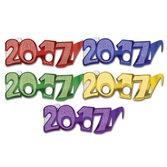 New Years Party Wear 2017 Foil Glittered Glasses 50 pack Image