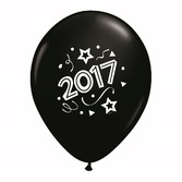 New Years Balloons Black Happy 2017 Balloons Image