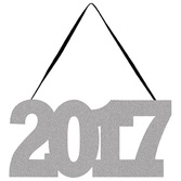 New Years Decorations 2017 Glittered Sign Image
