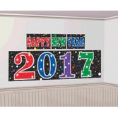 New Years Decorations 2017 Multicolor Happy New Year Backdrop Image