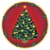 Christmas Table Accessories Warmth of Christmas Dessert Plates Image