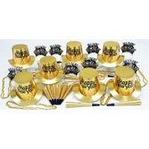 New Years Party Kits Gold Regal for 10 Image