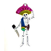 Day of the Dead Decorations Skeleton w/ Knife Tin Ornament Image