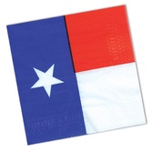 Western Table Accessories Texas Flag Luncheon Napkins Image