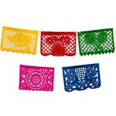 Cinco de Mayo Decorations Medium Plastic Picado Banner - Multicolor Image
