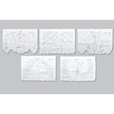 Wedding Decorations Wedding Plastic Picado Banner - White Image