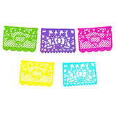 Wedding Decorations Amor Multicolor Plastic Picado Banner Image