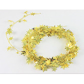 New Years Decorations Gold Star Wire Garland Image