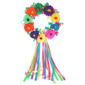 Cinco de Mayo Decorations Fiesta Flower Wreath Image