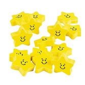 Back to School Favors & Prizes Smile Face Star Erasers Image