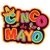 Cinco de Mayo Decorations Cinco de Mayo Glitter Cutout Image