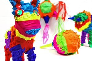 pinatas hero mexican paper flowers - Mexican Party Decorations