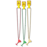 Cinco de Mayo Party Wear Margarita Glass Bead Necklace Image