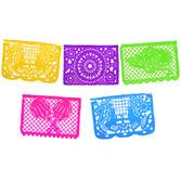 Cinco de Mayo Decorations Jumbo Neon Plastic Picado Banner Image