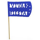 Cinco de Mayo Decorations Royal Blue Fiesta Flag Image