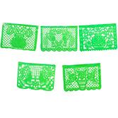 Cinco de Mayo Decorations Large Green Plastic Picado Image