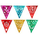 Cinco de Mayo Decorations Fiesta Metallic Pennant Banner - Multicolor Image