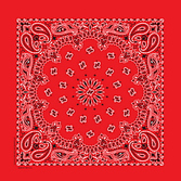 Western Party Wear Economy  Red Bandana Image
