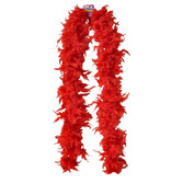 Valentine's Day Party Wear Red Feathered Boa Image