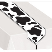 Western Table Accessories Cow Print Table Runner Image