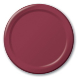Table Accessories Burgundy Dessert Plates Image
