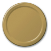 Anniversary Table Accessories Metallic Gold Dinner Plates Image