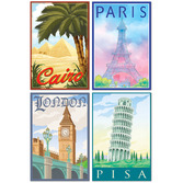 International Decorations International Travel Cutouts Image