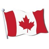 "International Decorations 18"" Canadian Flag Cuout Image"