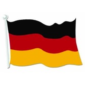 "Oktoberfest Decorations 18"" German Flag Cutout Image"