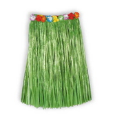 Luau Party Wear Adult Green Flowered Hula Skirt Image