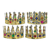 Mardi Gras Hats & Headwear Printed Jeweled Crown Image