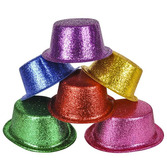 Hats & Headwear Glittered Top Hat Image