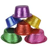Hats & Headwear Glittered Top Hat Image