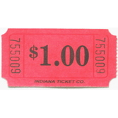 Tickets & Wristbands Red Dollar Ticket Roll Image