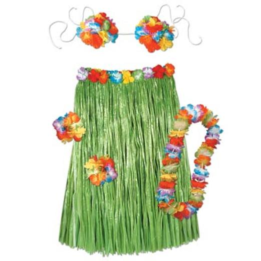 Luau Party Wear Adult Hula Outfit Image