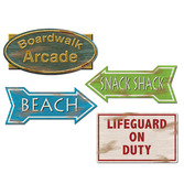 Luau Decorations Beach Sign Cutouts Image