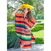 Cinco de Mayo Party Wear Large Serape Poncho Image
