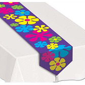 60s & 70s Table Accessories Retro Flowers Table Runner Image