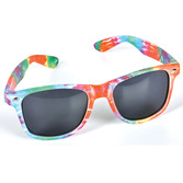 60s & 70s Party Wear Tie Dye Sunglasses Image