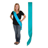 Party Wear Turquoise Satin Sash Image