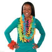 Luau Party Wear Bright Color Flower Lei Image