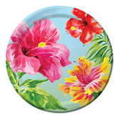 "Luau Table Accessories Heavenly Hibiscus 7"" Plates Image"