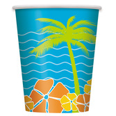 Luau Table Accessories Island Paradise Cups Image
