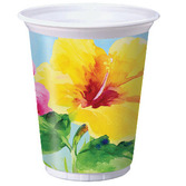 Luau Table Accessories Heavenly Hibiscus Plastic Cups Image