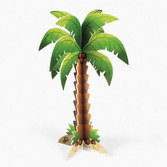 Luau Decorations Foam Palm Tree Centerpiece Image